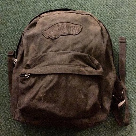 d65e159c27 Vans Realm Black Canvas Backpack. M 5c38b2133e0caa9c1e245067